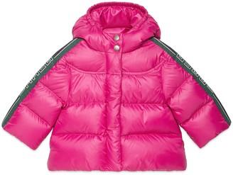 Gucci Baby nylon coat with stripe