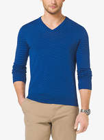 Michael Kors Cotton V-Neck Sweater