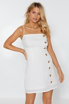 Nasty Gal Womens Get Button With It Mini Dress - white - 6