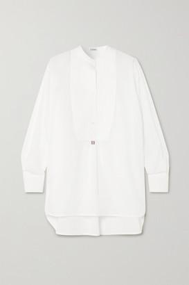 Loewe Oversized Embroidered Cotton-poplin Tunic - White