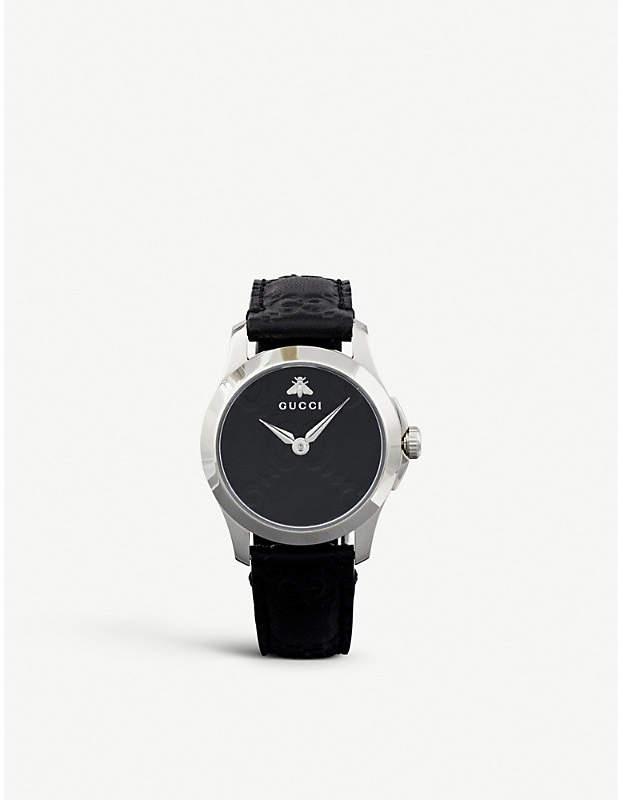 4faa096b801 Gucci Black Women s Watches - ShopStyle