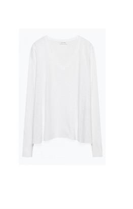 American Vintage Kobibay Long Sleeve Tee - White - l