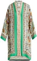 Etro Floral-embroidered jacquard silk-blend dress