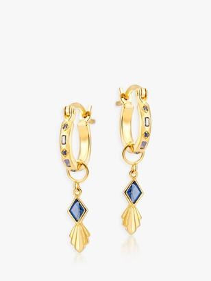 V by Laura Vann Iris Rhombus Charm Hoop Earrings
