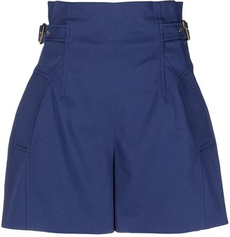 Alberta Ferretti Adjustable-Waist Shorts