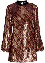Rixo Harriet Sequin Cut-Out Mini Dress