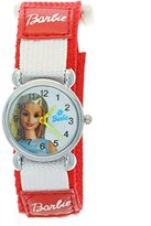 New Product! Adorable Barbie Red Nylon Velcro Band Fashionable Cartoon Girls Watches