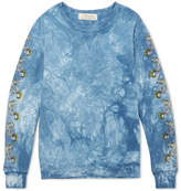 Remi Relief Printed Tie-dyed Loopback Cotton-jersey Sweatshirt