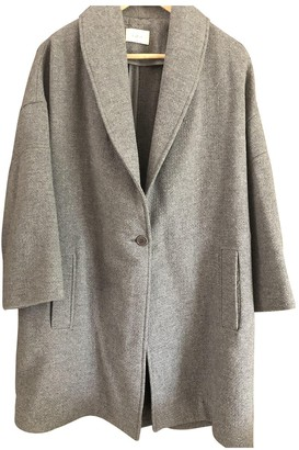 BA&SH Grey Wool Coat for Women