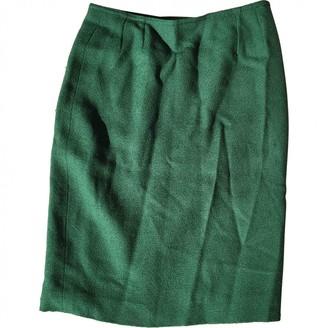 Saint Laurent Green Wool Skirts