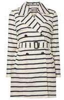 Dorothy Perkins Womens **Vero Moda Navy Stripe Coat- Blue