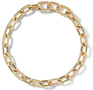 David Yurman 18kt yellow gold DY Madison 6mm bracelet