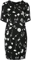 Oscar de la Renta cherry print tie back dress
