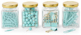 Argento Set of 4 Mint Desk Accessory Jars