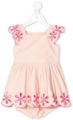Stella McCartney Floral-Embroidered Dress Set