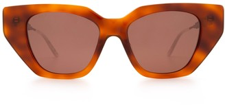 Gucci Gg0641s Havana Sunglasses