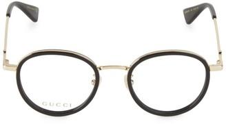 Gucci 49MM Round Optical Glasses
