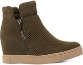Steve Madden Linqsp perforated wedge trainers