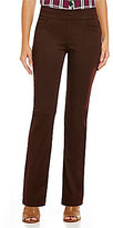 Intro Sheri Solid Pull-On Straight Leg Pintuck Pant