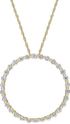 Rina Limor Fine Jewelry 10K 1.50 Ct. Tw. White Sapphire Pendant Necklace