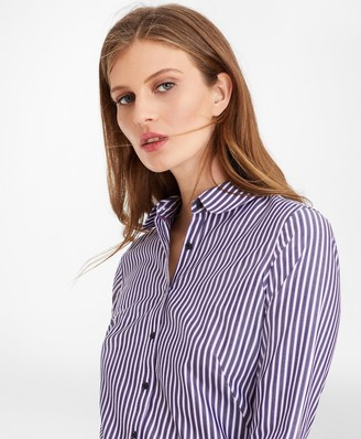 Brooks Brothers Non-Iron Striped Supima Cotton Fitted Shirt