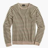 J.Crew Lightweight Italian cashmere crewneck sweater in wide stripe