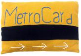 Hand-Knit Metrocard Baby Pillow