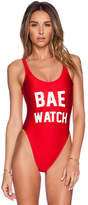Private Party Bae Watch Swimsuit in Red