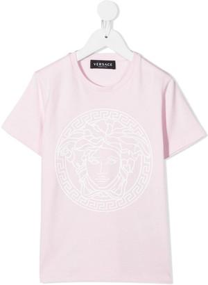 Versace logo-print crew neck T-Shirt