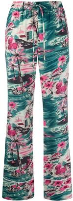 Ports 1961 Straight Leg Pyjama-Style Trousers