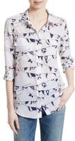 Equipment Women's Slim Signature Print Silk Shirt