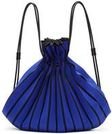 Issey Miyake Blue Linear Knit Rucksack