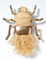 Banana Republic Raffia Bug Brooch