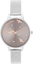 Olivia Burton Pearly Queen Mesh Strap Watch, 34mm