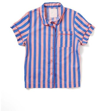 ban.do Indigo Sleepy Pink Short Sleeve Sleep Top - Extra Small