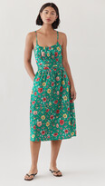 Thumbnail for your product : HVN Lucy Strappy Ruched Cotton Dress