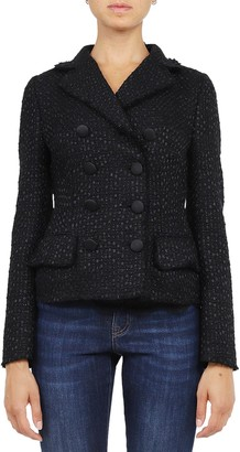Dolce & Gabbana Black Tweed Jacket