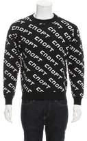 Gosha Rubchinskiy Text Pattern Wool Sweater