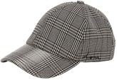Check Coated Canvas Baseball Hat