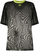 Fiorucci contrast collar sheer T-shirt