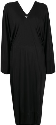 Henrik Vibskov Dropped-Waist Draped Dress