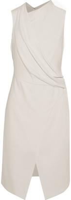Halston Wrap-effect Draped Crepe Dress