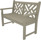 Polywood Chippendale Bench, Sand