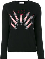 Valentino Love Blades jumper - women - Cashmere/Virgin Wool - M