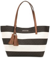 MICHAEL Michael Kors striped tote - women - Cotton/Leather/Polyurethane - One Size