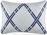 "Tommy Hilfiger Josephine Argyle Applique 12"" x 18"" Decorative Pillow"