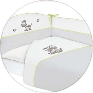 Ceba Baby Nest Cot Bumper with Bedding for Crib Zebra 3 Pieces