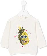 Stella McCartney pineapple print sweatshirt - kids - Cotton/Polyester - 9 mth