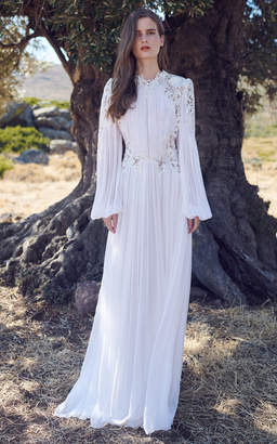 Costarellos Adonia Long Sleeve Gown