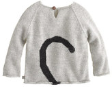 Oeuf Baby peeking cat sweater